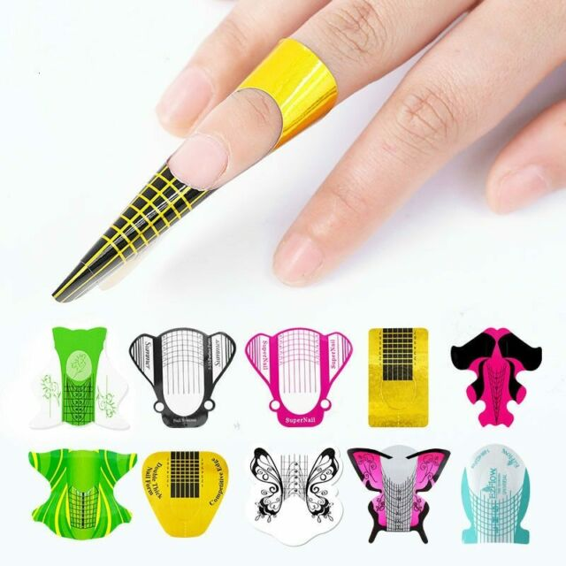 100 Professional Molds For Nail Extension Design Paper ...