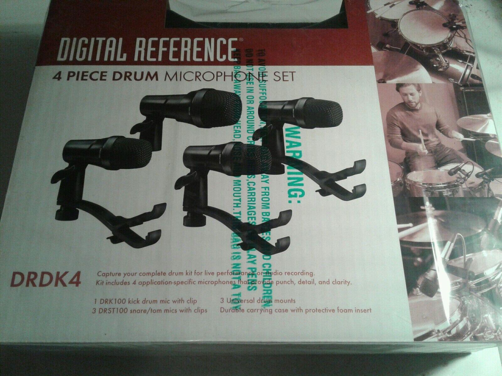 Digital Reference DRDK4 4-Piece Drum Mic Kit