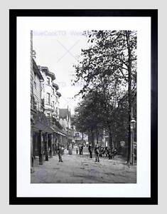 TUNBRIDGE WELLS THE PANTILES III ENGLAND OLD BW FRAMED ART PRINT MOUNT B12X1281