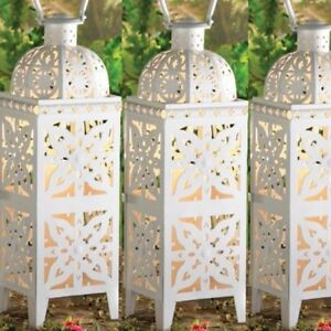 Lantern White Candle Holder Wedding
