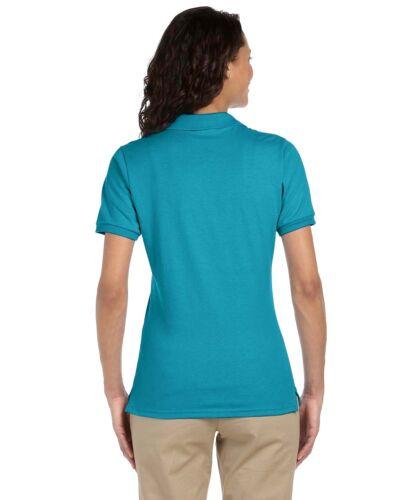 Jerzees Women/'s SpotShield Short Sleeve Solid Polo Shirt M-437W