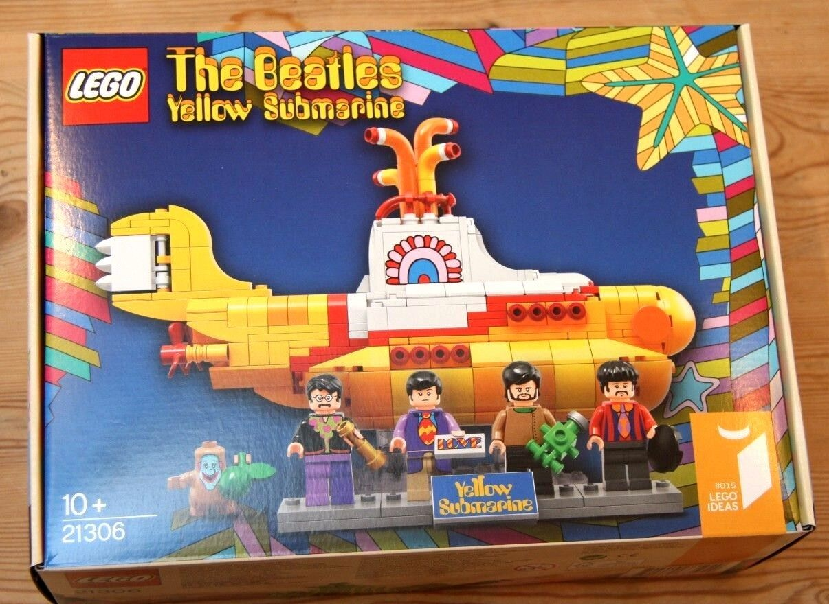 LEGO 21306 The Beatles Yellow Submarine Lennon McCartney Ringo Harrison NEW