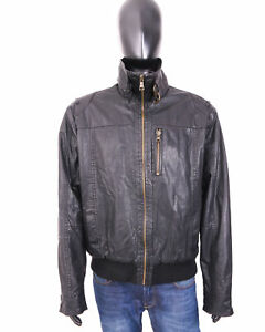 Mark-Spencer-Mens-Jacket-Faux-Leather-Black-XL