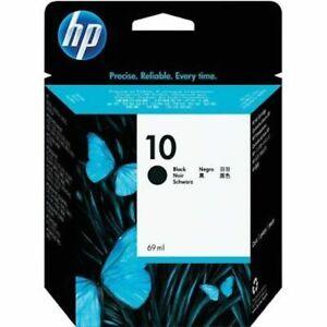 Genuine-HEWLETT-PACKARD-HP-10-Cartouche-d-039-encre-Noire-C4844A