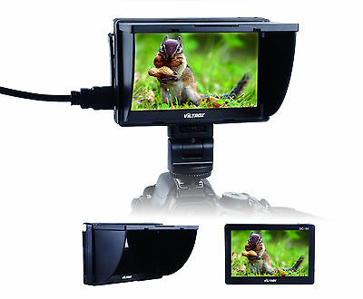 Jueying Viltrox DC-50 5'' Hot Shoe TFT LCD Monitor AV HDMI Input for DSLR Camera