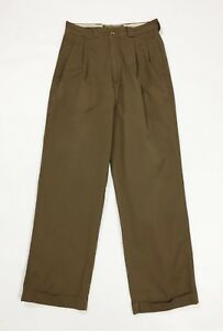 Americanino-pantalone-uomo-usato-vintage-W30-tg-44-marrone-boyfriend-T3731