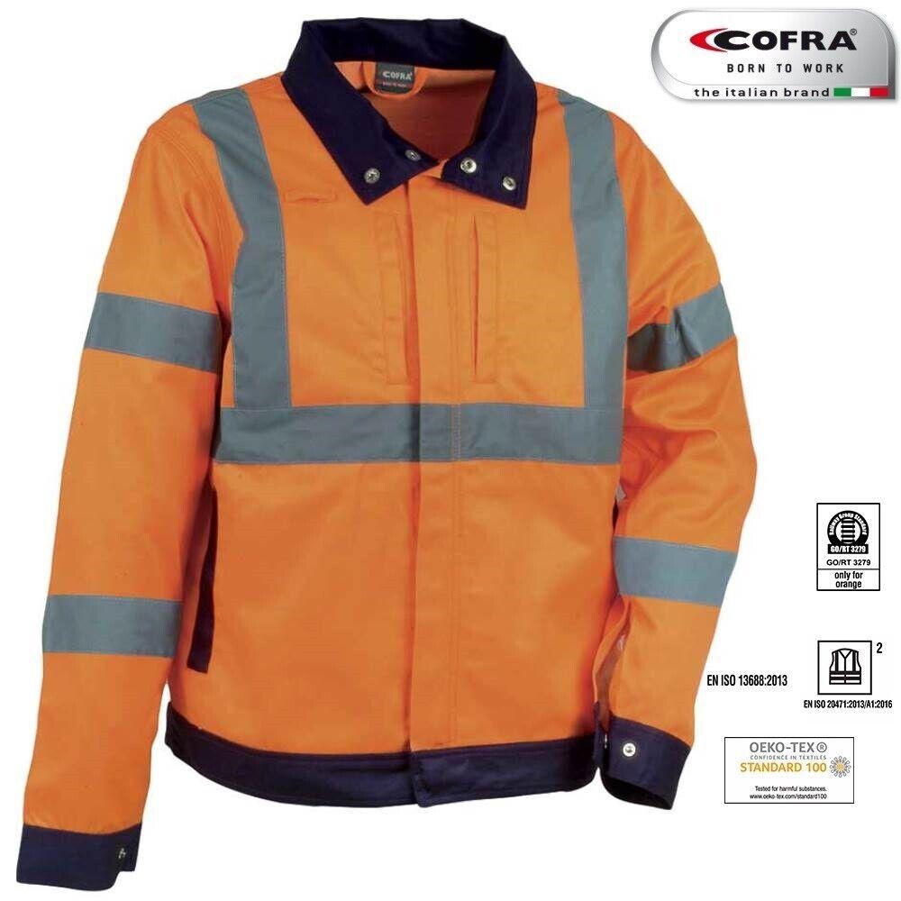giacca arancione da lavoro