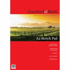 Crawford & Black A2 Sketch Pad, Art & Craft, Brand New