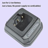Only Base For Vertex Standard Vx821 Walkie Talkie Li-ion Battery Charger