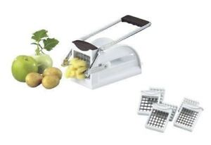 New-Westmark-Germany-Multipurpose-French-Fry-Cutter-w-3-Stainless-Steel-Blades