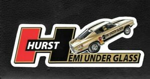 Hurst Hemi Under Glass Wheelstander Decal Sticker - NHRA IHRA Drag Racing