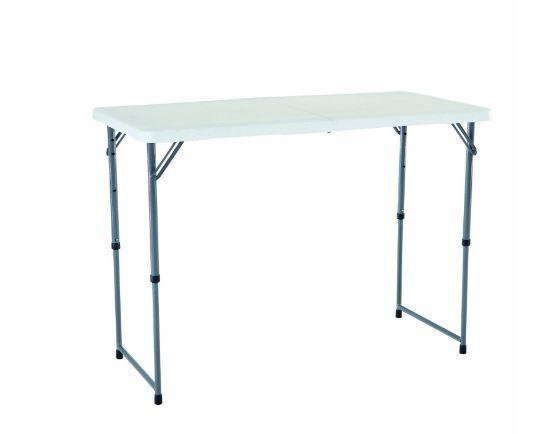 Mesa Plegable Cámping Picnic Craft Plegable Muebles Ajustable Utilidad Aire libre