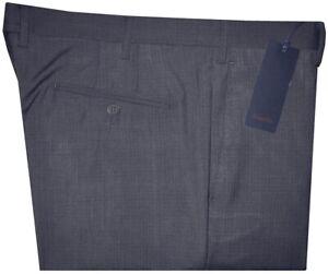 345-NEW-ZANELLA-ITALY-PETER-BLUE-GRAY-MICRO-GRID-120-039-S-SLIM-FIT-DRESS-PANTS-36