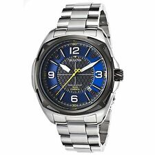 Bulova 98B224 Men's Precisionist Silver-Tone Quartz Watch