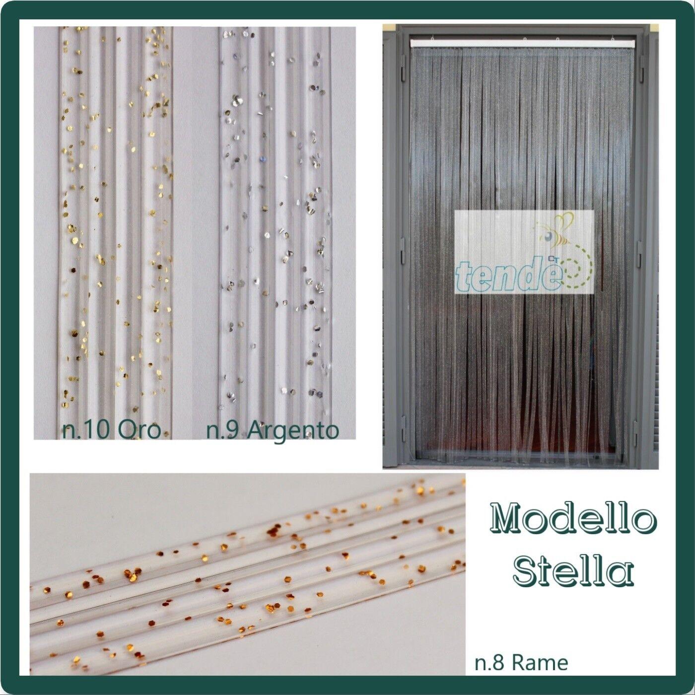 Pvc Türvorhänge Modell Stern, Aluminiumträger, Insektenschutz, Fadenvorhang