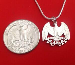 Silver-Quarter-USA-US-Patriotic-American-Eagle-Cut-Coin-Jewelry-Store