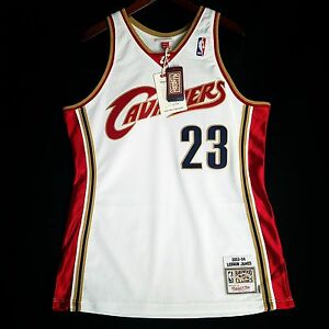 the best attitude 5a61a 5e3dc Details about 100% Authentic Lebron James Mitchell Ness 03 04 Cavaliers  Jersey Size 44 L Mens