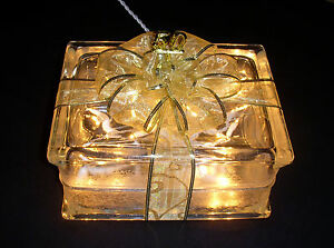 Golden 50th Wedding Anniversary Glass Block Light - Unique 50th ...
