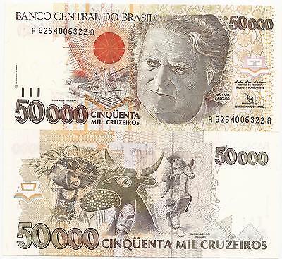 5,000 Cruzeiros Brazil 5000 ND 1993 P-232c Unc
