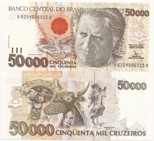 BRAZIL  CRUZ 50000 P-234  ND 40 PCS 1992 UNC CAT PR $ 3.