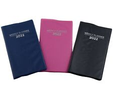 New Listing2022 Weekly Planner Notebook Agenda Vinyl Cover Pocket Size Choose Color