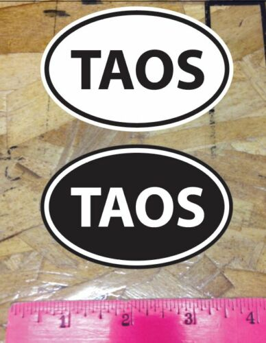 2 for 1 sticker decals Black and White New Mexico TAOS