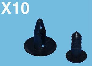 10PCS CITROEN PLASTIC TRIM RETAINER CLIPS FIX BUMPER FENDER