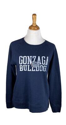 Navy NCAA Gonzaga Bulldogs Mens Team Color Crewneck Sweatshirt Medium