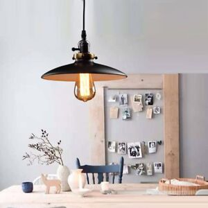 Details About Black Ceiling Lamp Kitchen Led Lighting Bar Vintage Pendant Light Office Lights