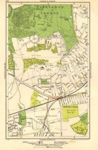 WIMBLEDON. Raynes Park, Cottenham Park, New Malden, Shannon Corner 1923 map