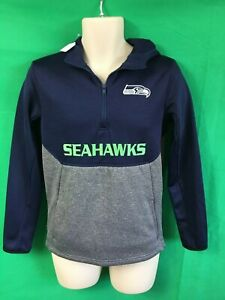 sports shoes 68bc2 6d8be Details about W9 NFL Seattle Seahawks Hoodie Youth Large 14-16 Perfectly  Awesome!