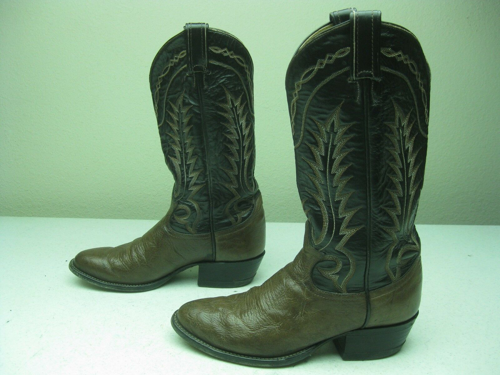 BROWN TONY IN LAMA MADE IN TONY  A COWBOY WESTERN BOOTS 7.5 D 3d25c7