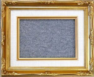 8x10 Classic Gold Leaf Ornate Art Photo Picture Frame Linen Liner