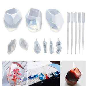 14pcs-set-silicone-mould-resin-craft-diy-stone-shape-mold-epoxy-resin-molds