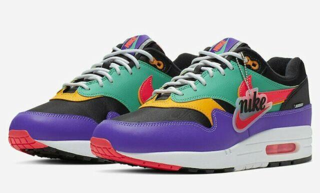 Nike Air Max 1 SE BQ6521-001 Men/'s Shoe Off Noir//Hyper Blue sz 6-10.5