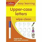 Collins Easy Learning Preschool - Upper Case Letters Age 3-5 Wipe Clean Activity Book by Collins Easy Learning (Other book format, 2017)