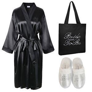 Crystal-Bride-To-Be-Satin-Bathrobe-Tote-Bag-Spa-Slipper-set-Kimono-Dressing-gown