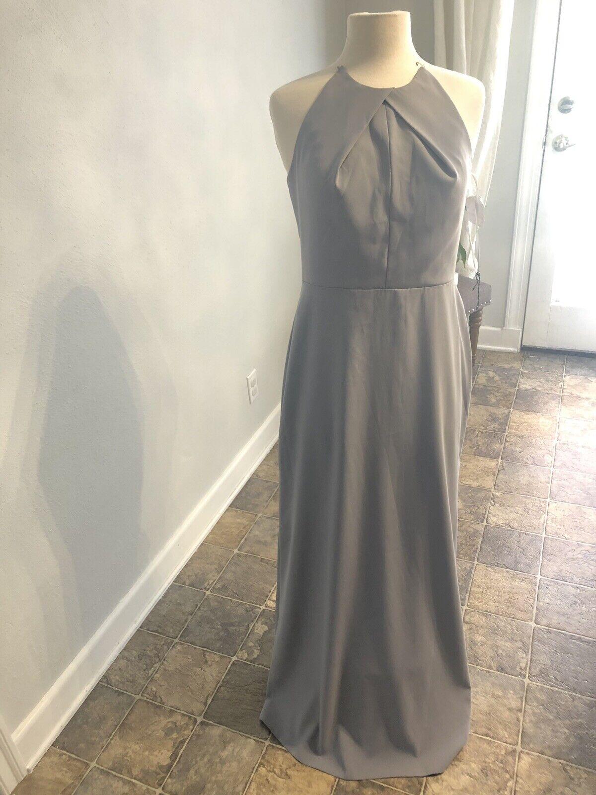 Lela ROSE LR227 Size 8 Color Platinum