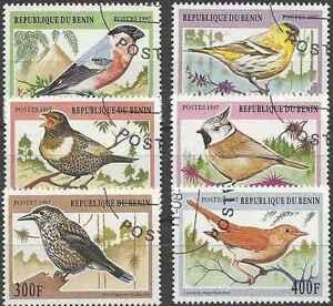 Timbres-Oiseaux-Benin-756-61-o-lot-20210