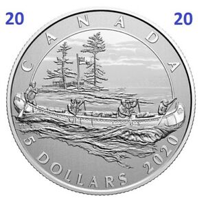 New-Canada-Pure-Silver-5-Dollars-Coin-5-Hudson-039-s-Bay-Company-UNC-2020