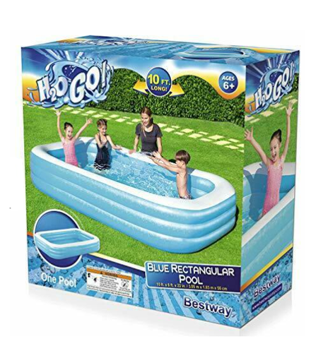 H2OGO Large Inflatable Swimming Pool Family Kids Fun 10ft x 6ft X 22in Blue NEW