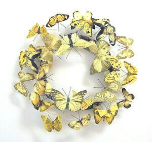 Kranz-Schmetterling-gelb-Tuerkranz-Wandkranz-Kranz-Dekokranz-ca-30-cm