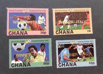 Briefmarken Gastfreundlich Ghana 1983 World Cup Football Championships Sg1023/6 Winner Italy Op Mnh Um