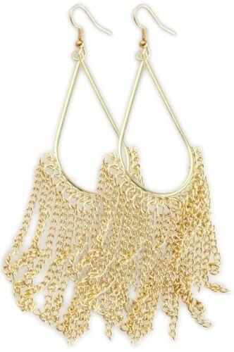 Oriental señora pendientes aretes pendiente joyas plateados Golden Black