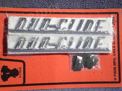 Harley panhead hydra glide front fender name plate script emblems   91582-50