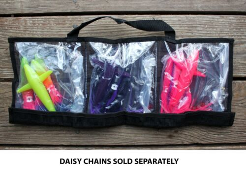 CUSTOM OFFSHORE TACKLE 3 Pocket Daisy Chain Tackle Lure Bag 20 x 8 Black