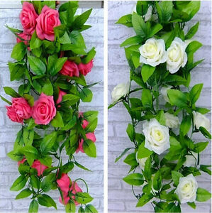 Simulation silk flower wedding party decorations rose vine for Rose home decorations