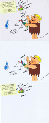 Barney Rubble Original Production Cel 12 Field Color Model Cel 2 Parts