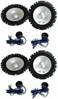 4) Alpine Sxe-1750s 6.5 560w Car 2 Way Component Audio Speakers Stereo Sxe1750s