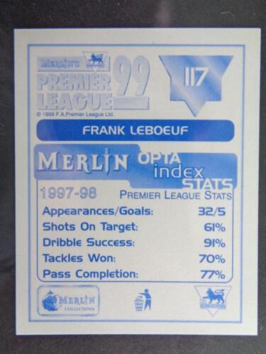 MERLIN PREMIER LEAGUE 99-FRANK LEBOEUF CHELSEA #117